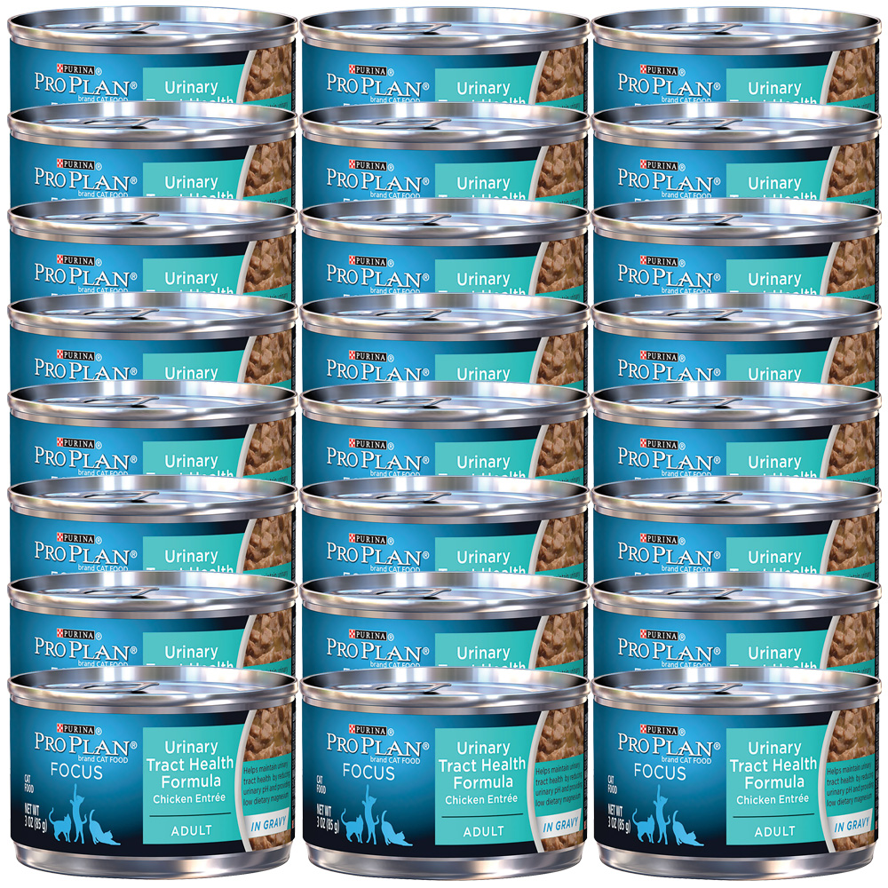 Purina Pro Plan Focus - Urinary Tract Health Chicken Entrée Canned Adult Cat Food (24x3oz)