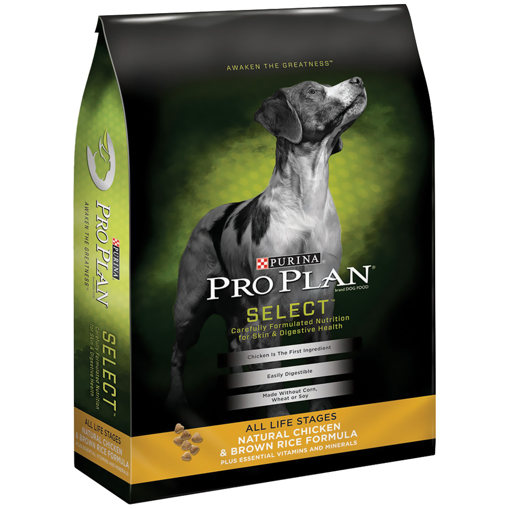 Purina Pro Plan Select - Natural Chicken & Brown Rice Dry Dog Food (17.5 lb)