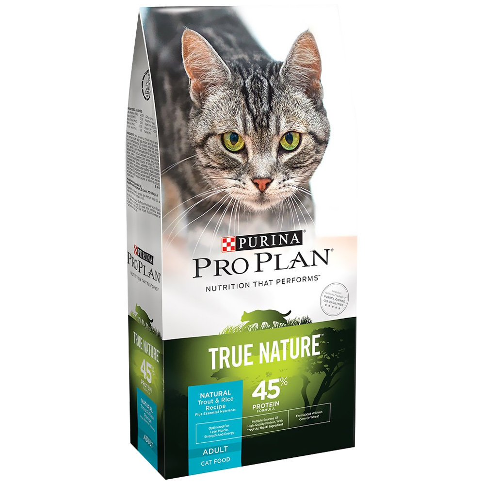 Purina Pro Plan True Nature - Trout & Rice Dry Adult Cat Food (6 lb)