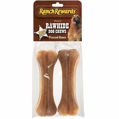 Ranch Rewards Rawhide Pressed Bones - 2 Pack