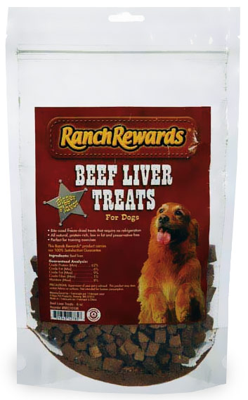 Ranch Rewards Beef Liver Treats for Dogs (6 oz)