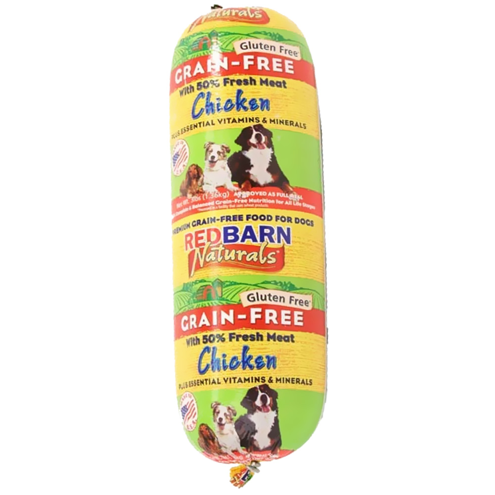 Redbarn Grain-Free Rolled Dog Food - Chicken (3 lbs)