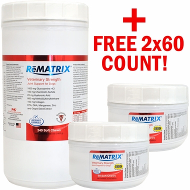 ReMATRIX Soft Chews (240 Chews) PLUS FREE 2x60 Count!