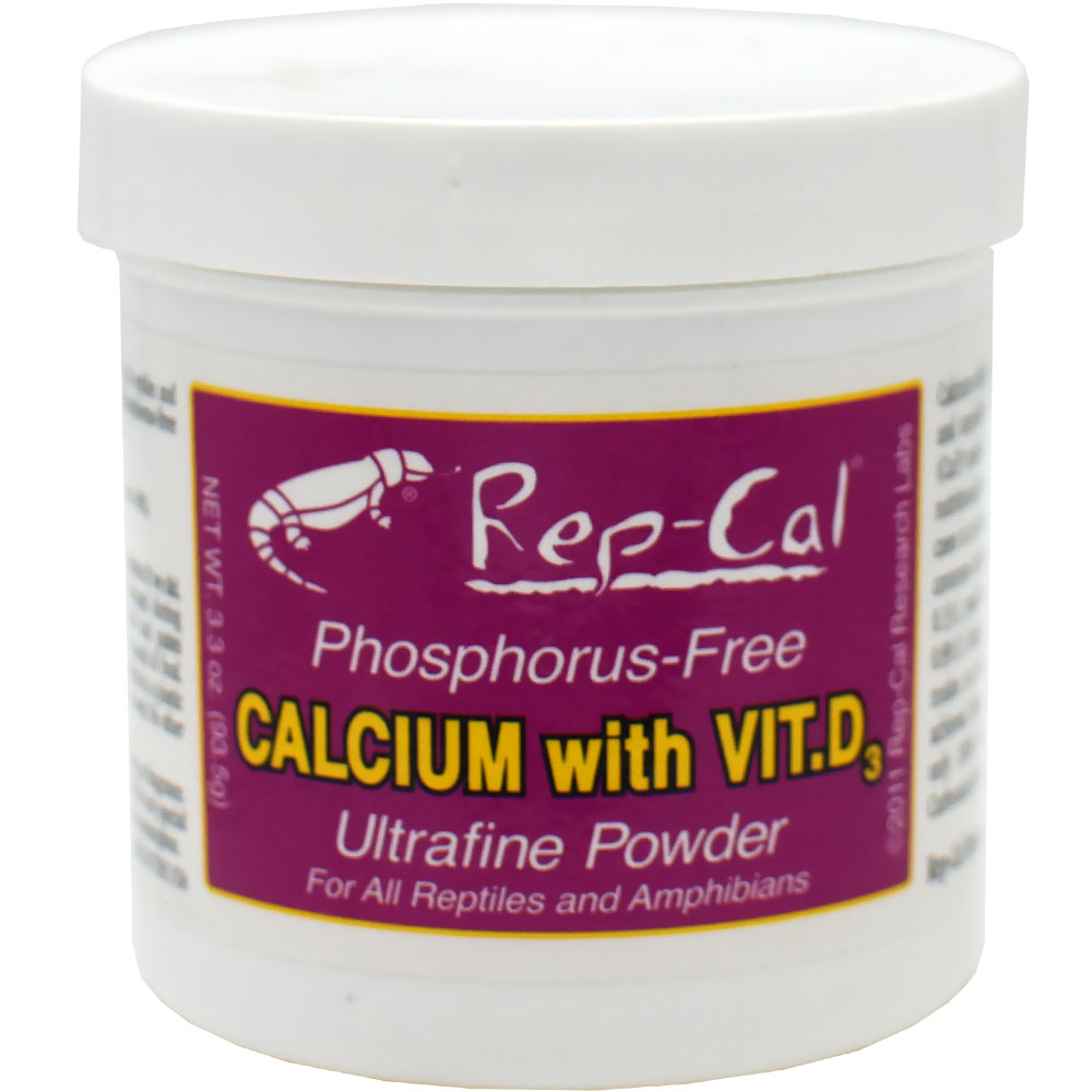Rep-Cal Calcium with Vitamin D3 (4.1 oz) Ultrafine Powder