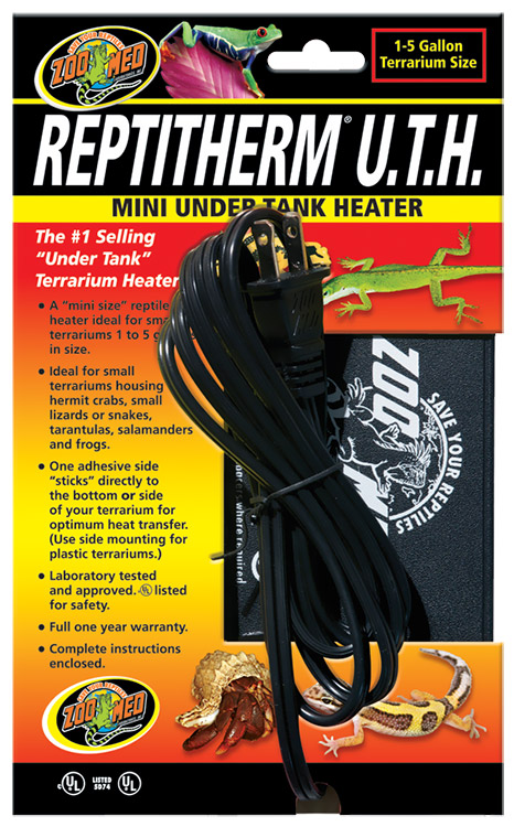 "Reptitherm Under Tank Heater Mini (1-5 gallon) 4"" by 5"""