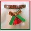 Rhinestone Dog Collars - Christmas Bells & Red Velvet (XSmall)