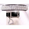Rhinestone Dog Collars - Sweetheart in Black Velvet # 191 (Small)