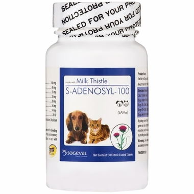 S Adenosyl 100 (SAMe) for Small Dogs and Cats - 100 mg (30 tabs)