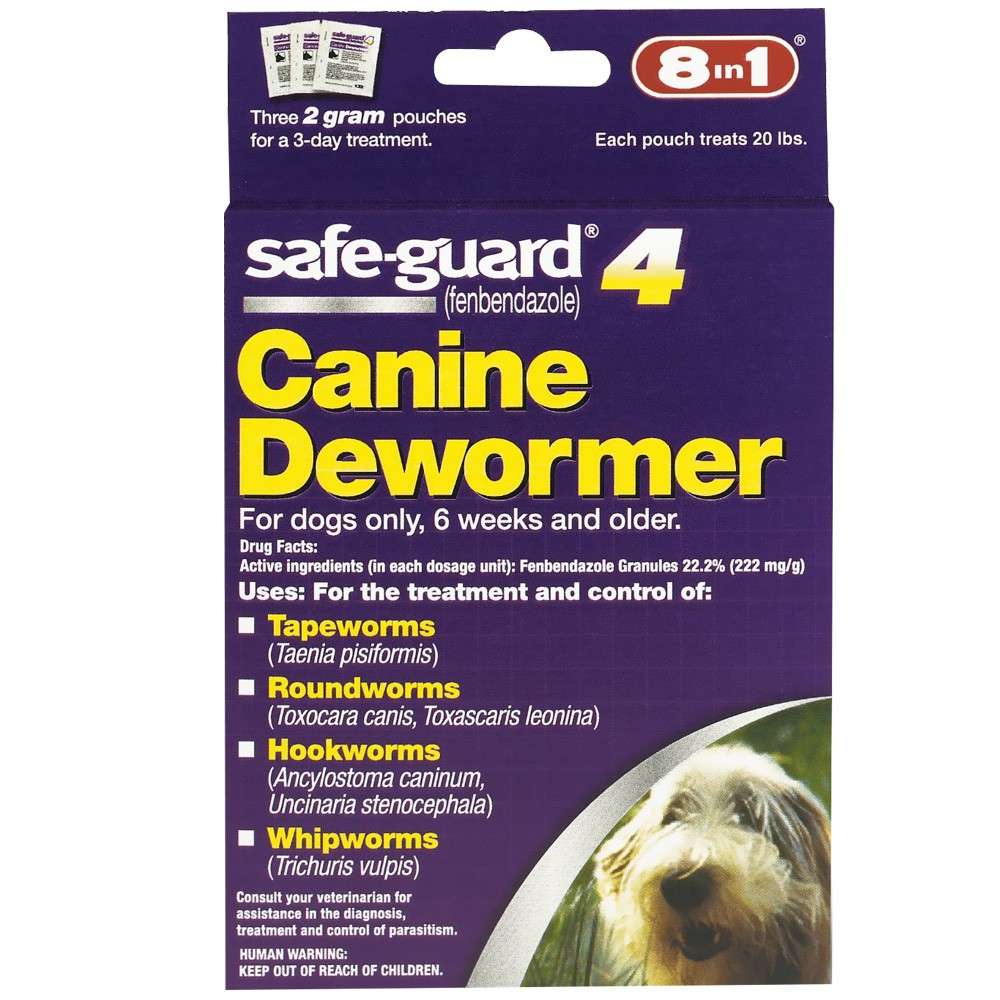 Safeguard 4 Canine Dewormer (2 gm) - Medium Dogs (3 pack)