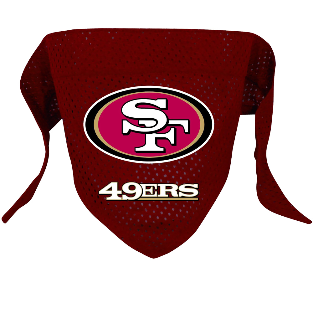 San Francisco 49ers Dog Bandanas