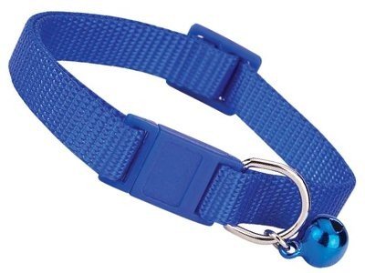"Savvy Tabby Nylon Breakaway Cat Collars - 3/8"" Fits 8""-12"" Necks - Nautical Blue"