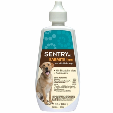 SENTRY Earmite Ear Miticide for Dogs (3 oz)