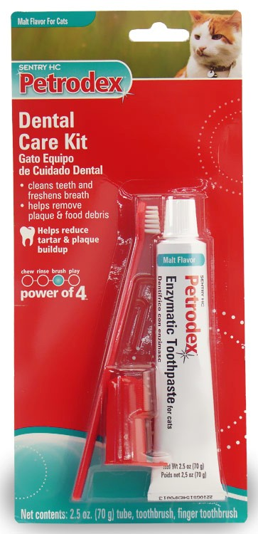 Sentry HC Petrodex Dental Care Kit Malt Flavor Cats