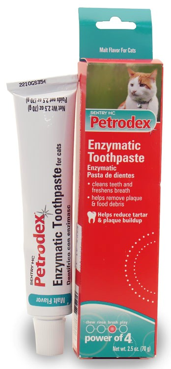 Sentry HC Petrodex Enzymatic Toothpaste Cats Malt Flavor (2.5 oz)