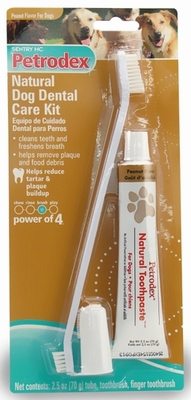 Sentry HC Petrodex Natural Dental Care Kit Peanut Flavor Dogs