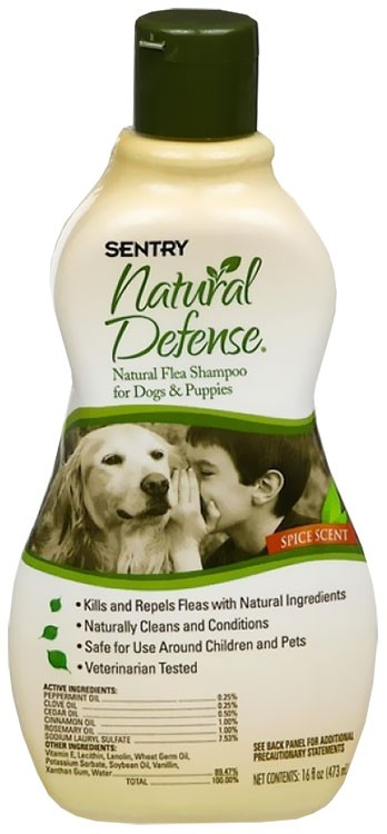 Sentry Natural Defense Flea Shampoo Dogs (16 oz)