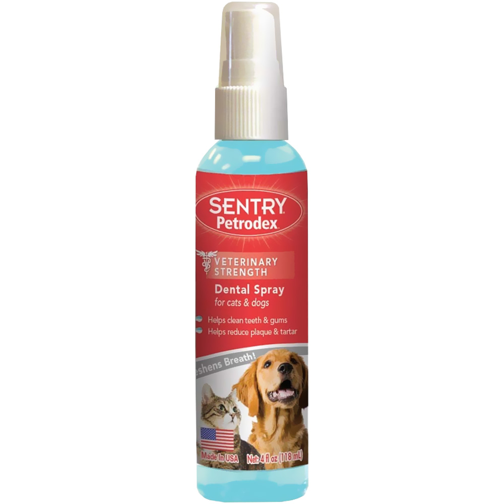 SENTRY Petrodex Dental Spray for Cats Dogs (4 oz)