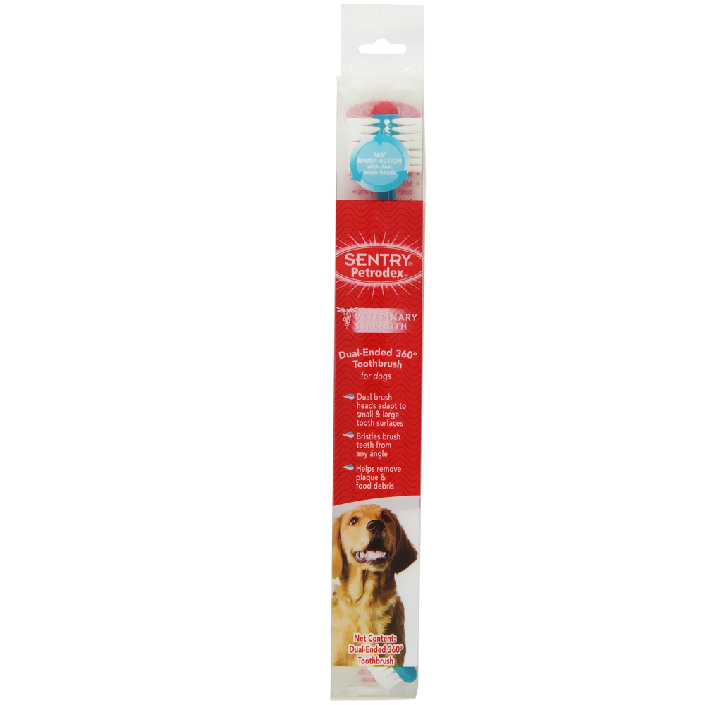 SENTRY Petrodex Dual-Ended 360 Toothbrush for Dogs