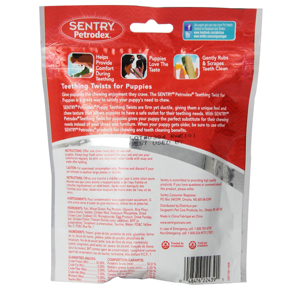 SENTRY Petrodex Puppy Teething Twists (3.7 oz)
