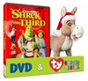 Shrek The Third Full Screen DVD & TY Beanie Babies Set