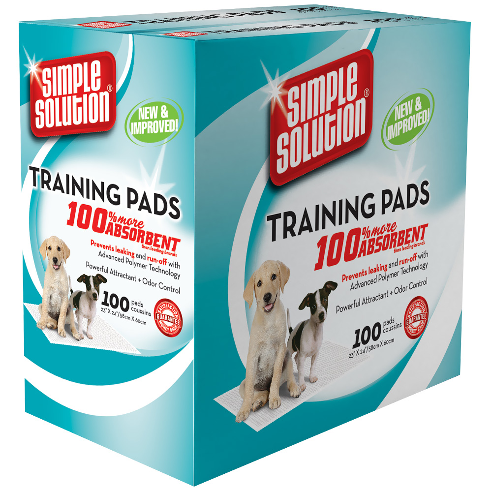 "Simple Solution Original Training Pads - 100 Pad Pack (23"" x 24"")"