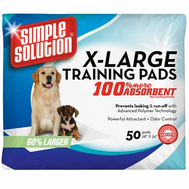 Simple Solution Training Pads - Extra Large (50 Pad Pack 28