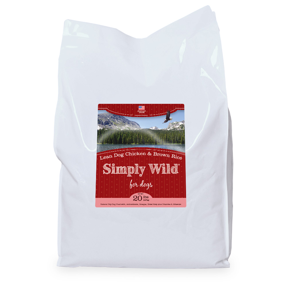 Simply Wild Lean Dog Chicken & Brown Rice Dog Food (20 lbs)