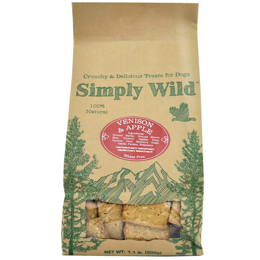 Simply Wild Venison & Apple Dog Treats (1.1 lb)