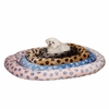 "Slumber Pet PawPrint Oval Bed 18""x16"" - Pink"