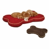 Slumber Pet Suede Bone Dog Bed Small - Red