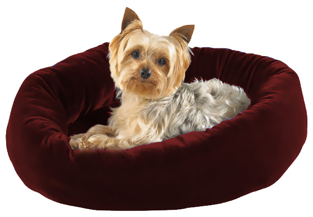 "Slumber Pet Velour Snuggler Bed Burgundy (21""x17"")"