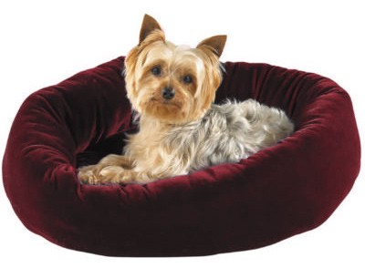 "Slumber Pet Velour Snuggler Bed Burgundy (29""x23"")"