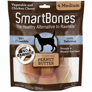 SmartBones Medium Peanut Butter Chews (4 pack)