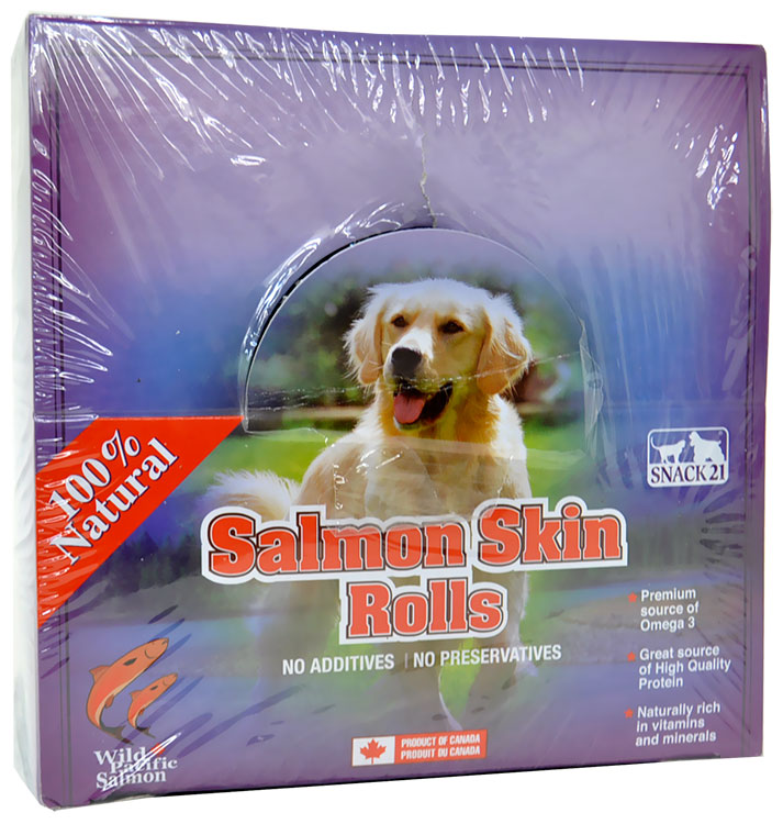 Snack 21 Salmon Skin Rolls Dog Chews (50 count)