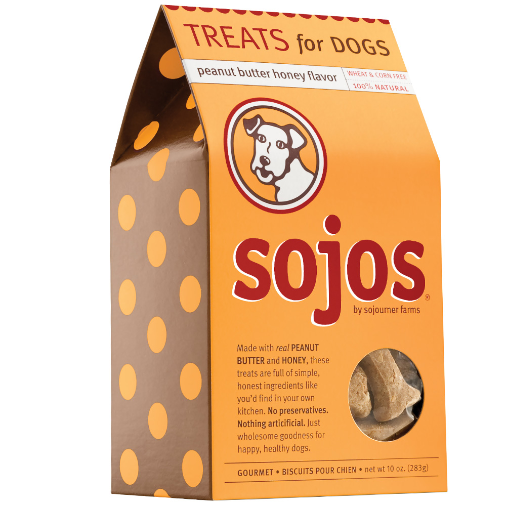 Sojos Dog Treats: Peanut Butter Honey (10 oz)