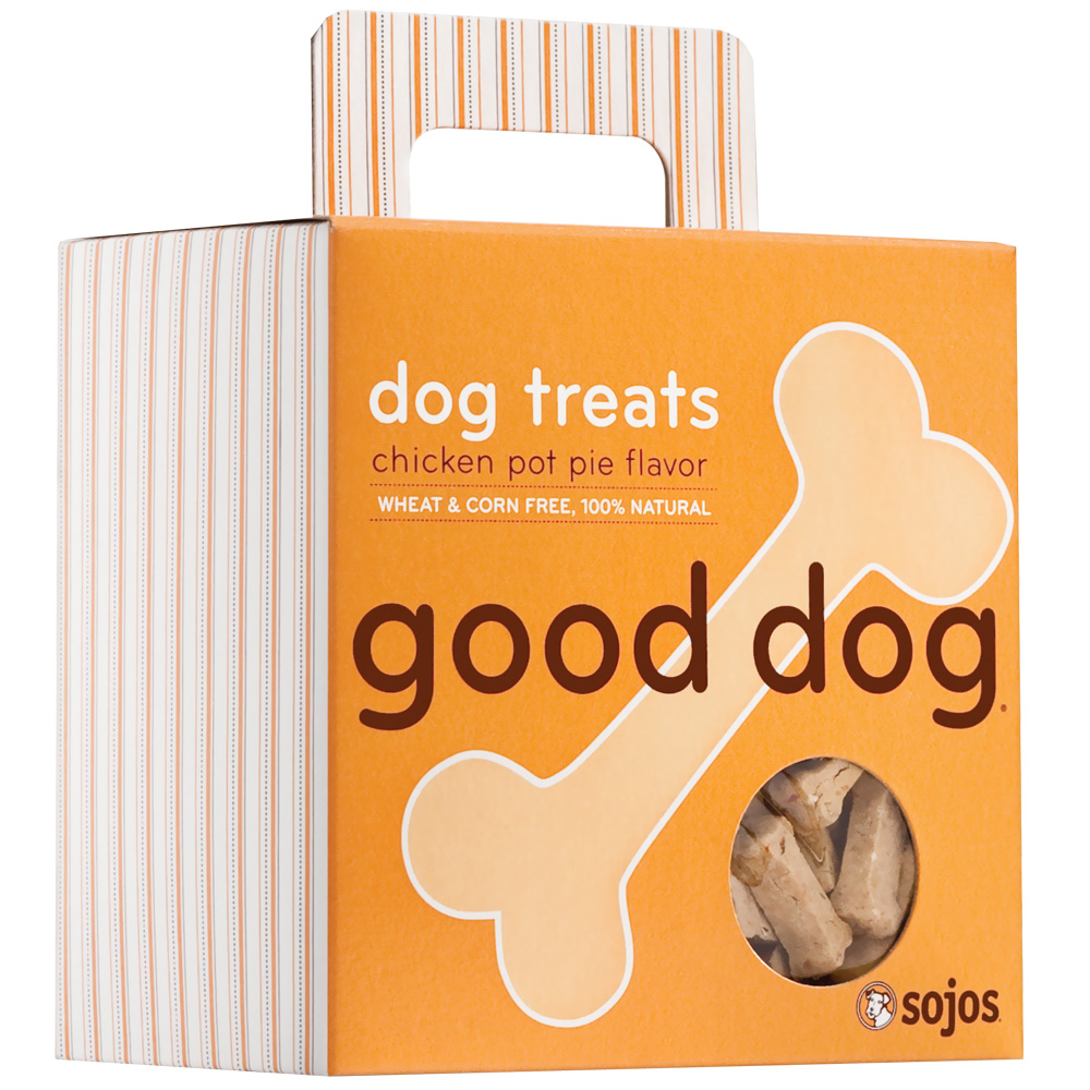 Sojos Good Dog: Dog Treats - Chicken Pot Pie (8 oz)
