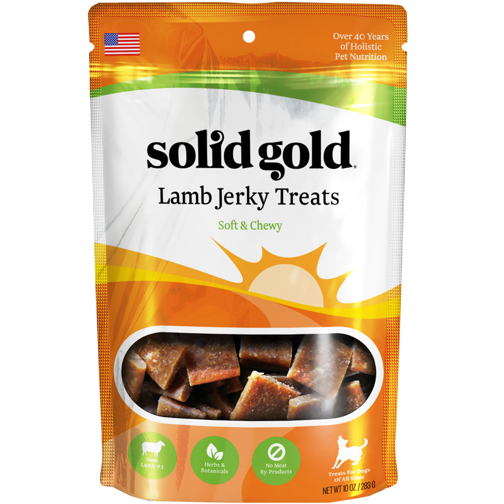 Solid Gold Lamb Jerky Dog Treats ( 10 oz)