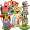 Spongebob & Friends Mini Aquarium Ornament Set