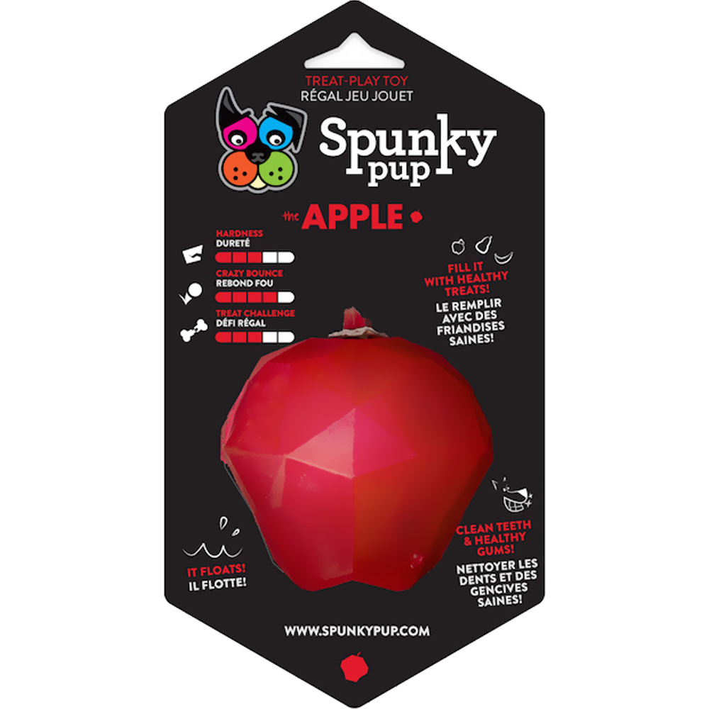 Spunky Pup Treat Holding Play Toys - Apple