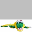 Squeaker Mat Dog Toy - Long Body Alligator w/ Hat
