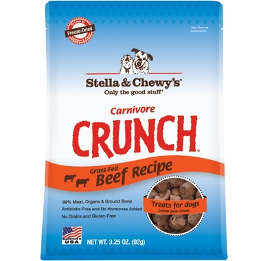 Stella & Chewy's Carnivore Crunch Beef Freeze-Dried Dog Treats (3.5oz)