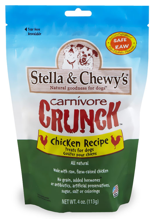 Stella & Chewy's Carnivore Crunch Chicken Freeze-Dried Dog Treats (4 oz)