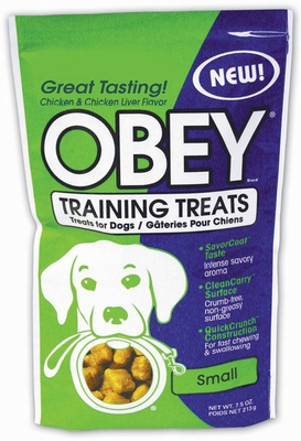 Stewart OBEY Training Treats for Dogs (Chicken & Chicken Liver Flavor) - Small