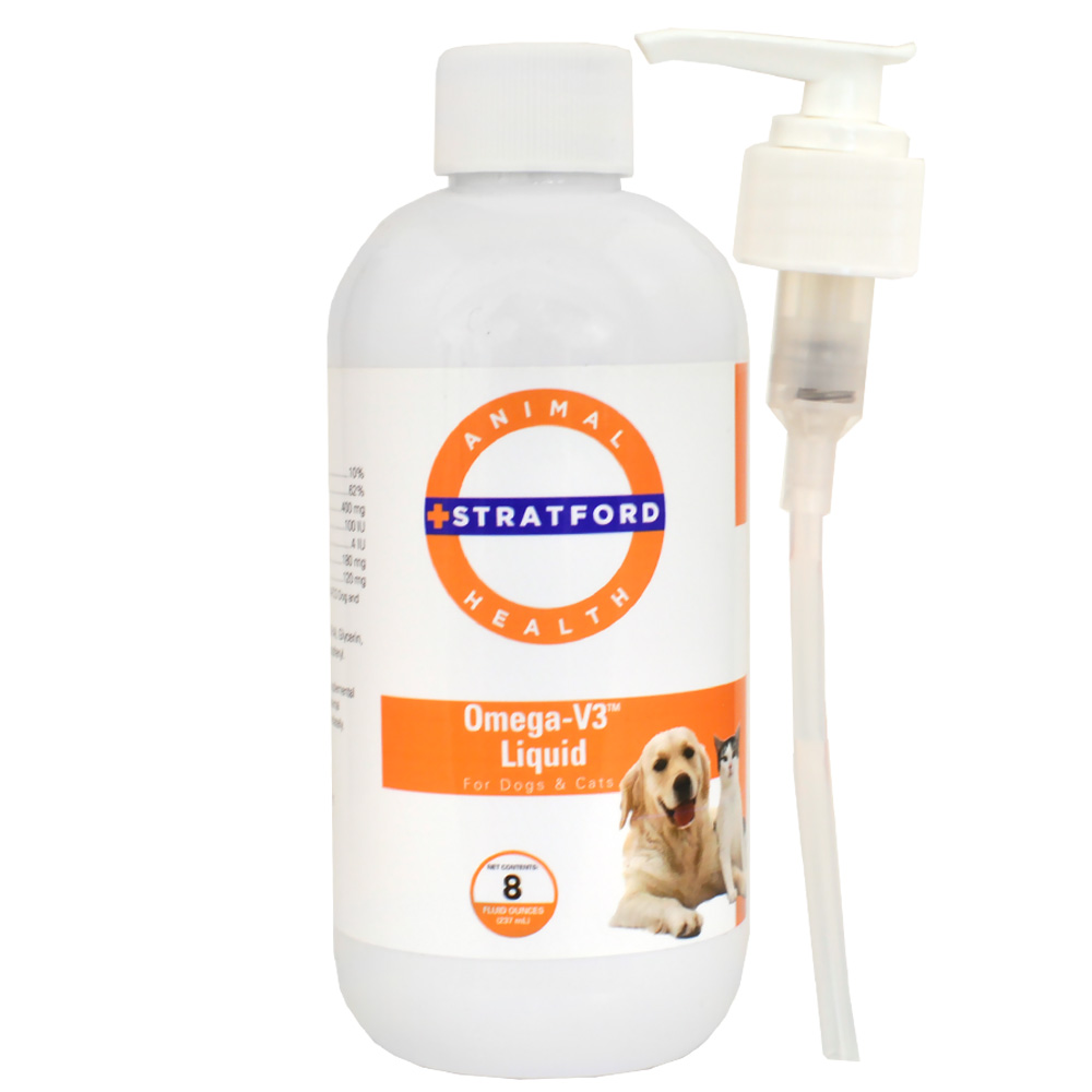 Stratford Omega-V3 Liquid for Dogs & Cats (8 oz)