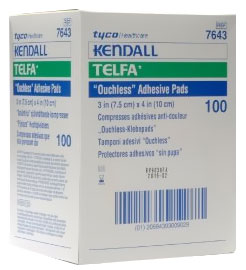 "TELFA Pads with Adhesive Sterile (3""x4"") - 100 pack"