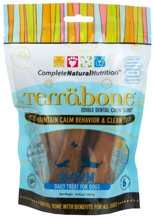 Terrabone Dental Chew Bones B-Calm - Regular (6 count)