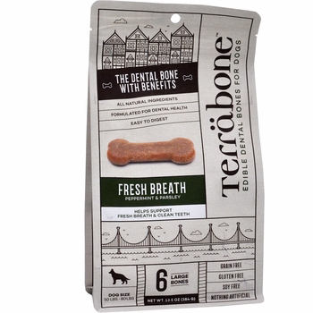 Terrabone Dental Chew Bones Fresh Breath - Regular (6 count)