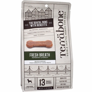 Terrabone Dental Chew Bones Fresh Breath - Small (10 count)