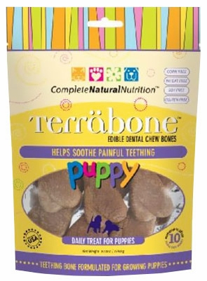 Terrabone Puppy Dental Chew Bones - Small (10 count)