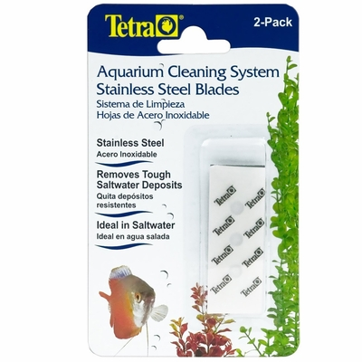 Tetra Aquarium Cleaning System Stainless Steel Blade (2 pack)